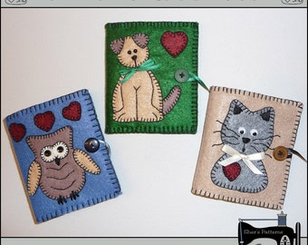PDF Pattern for Felt Needle Case, Sewing Accessories, Sewing Pattern, Tutorial, DIY