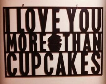 Kitchen Art Cupcake Sign