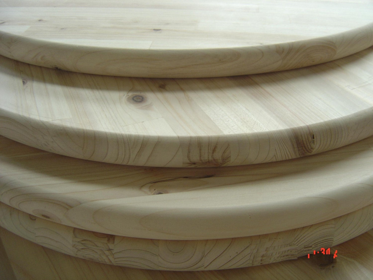 Unfinished pine round 18 for table top sign or serving - Inch round wood table top ...