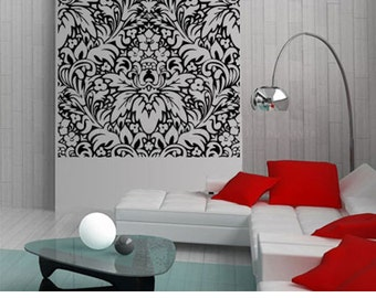 Damask Wallpaper - Damask Wall Sticker - Damask headboard decal
