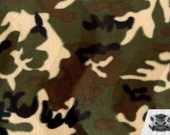 Velboa Faux Fake Fur Army Camouflage Fabric