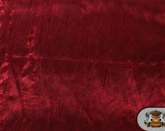 """Satin CRUSHED CHARMEUSE Burgundy Fabric / 55"""" Wide / Sold by the yard"""