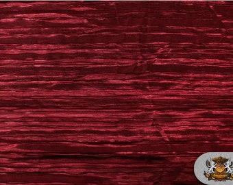 "Satin ITALIAN CRUSHED Maroon Fabric / 115"" Wide / Sold by The Yard"