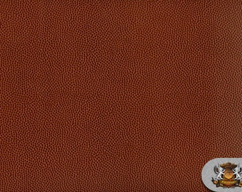 "Vinyl Football BROWN Fake Leather Upholstery Fabric / 54"" Wide / Sold By the Yard"