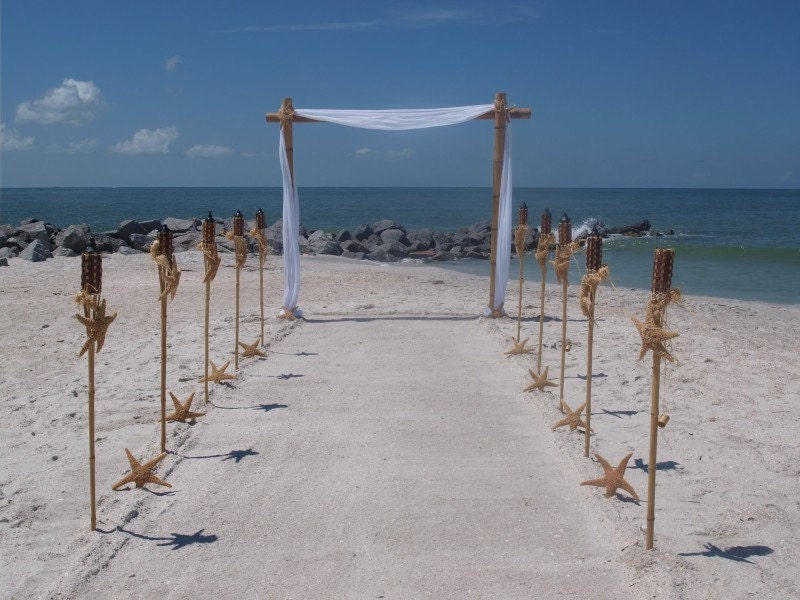 Bamboo Wedding Arch AND Aisle Way Decorating Kit
