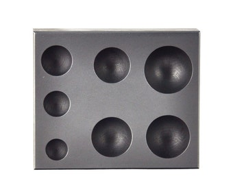 7 IN 1 Graphite Glass Marble Sphere Round Mold for Glassblowing Casting Lamp Working