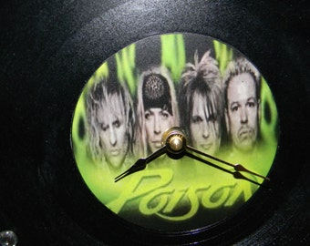 POISON Inspired Vinyl Record Wall Clock