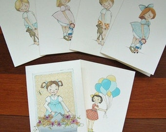 Assorted Notecards - Children's Illustration, set of 8