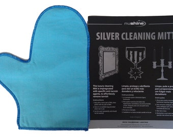 Nushine Silver Cleaning Mitt with impregnated anti tarnish agent