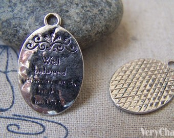 10 pcs of Tibetan Silver Lovely Oval Charms 16x25mm A2274