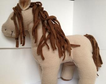 Fleece Stuffed Horse