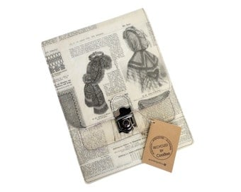 iPad Sleeve - Tablet  Cover with Recycled Vintage Magazines