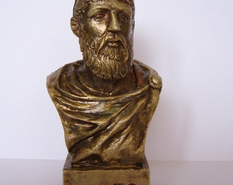 Bronze Bust  Plato  Figure Sculpture
