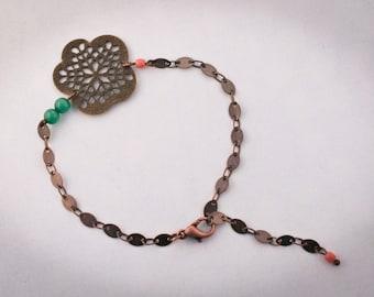 Print flower bracelet