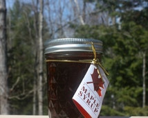 Half Pint of Adirondack Maple Syrup in Mason Jar