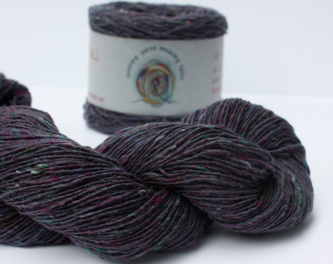 Spinning Yarns Weaving Tales - Tirchonaill 501 Purple Green 100% Merino for Knitting, Crochet, Warp & Weft