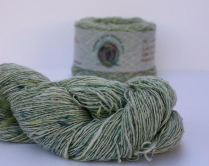 Spinning Yarns Weaving Tales - Tirchonaill 505 Soft  Mint Green 100% Merino for Knitting, Crochet, Warp & Weft