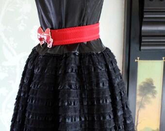 Vintage 1980's does 50's black prom dress size 10-12