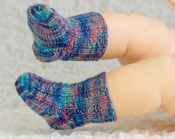 FREE KNITTING PATTERN, Baby Socks Sample Pattern, Free Baby Knitting Pattern, Newborn Socks Knitting Pattern, Pdf, Instant Download