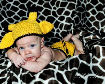 baby boy hat giraffe hat and diaper cover set crochet free shipping photo pro