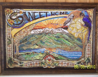 62 in. x 42 in. glass tile mosaic       SOLD SOLD SOLD