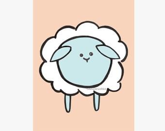 Sheep Print Orange