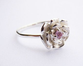 Sterling Silver Rose Ring All Sizes