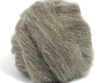 Grey Finnish Top / Roving - Felting - Spinning - Crafts - 100g / 3.5oz