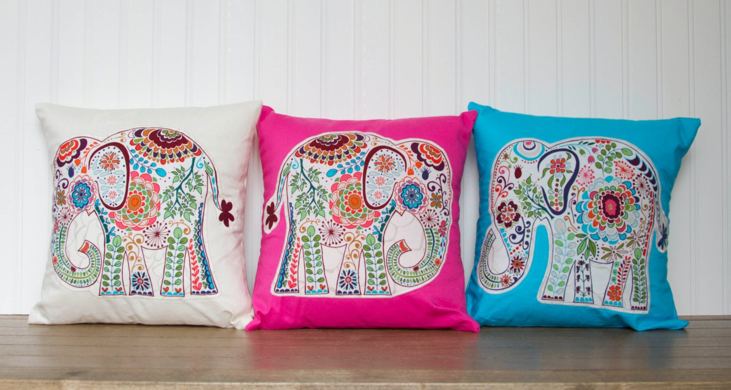 Throw Pillow Elephant : Elephant Pillow 12x12 Throw Pillow Cover with by TinyWhineyShop