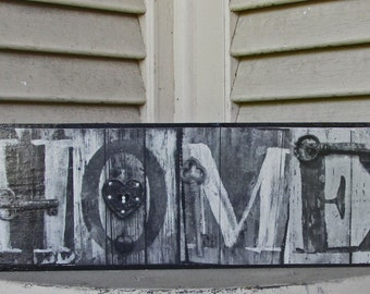 HOME sign wood Photo Letter Art on Wood alphabet photography wood art letters