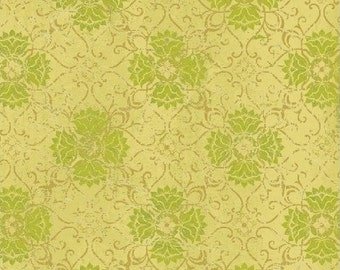 Gold & Green Filigree - Urban Cosmos by Prima for Windham Fabrics 33330 5 - 1/2 yard