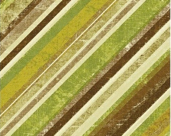 Angle Stripe Fabric - Urban Cosmos Green Textured Stripe by Prima for Windham Fabrics 33324 4 - 1/2 yard