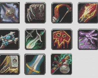 World Of Warcraft Inspired Logo - 11 Class Tiles