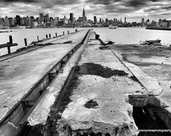 Old Pier, Hoboken, Original Photograph
