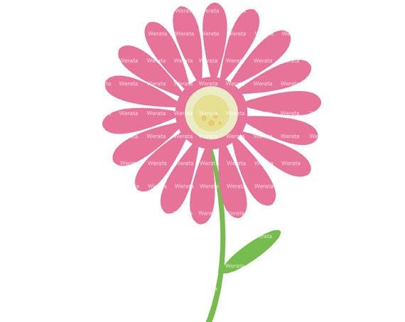 articles similaires à fleur rose clip art digital clipart