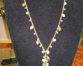 Beaded 24 inch chain necklace with an adjustable extension chain
