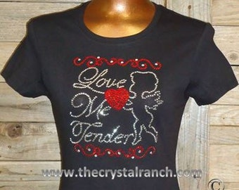 Love Me Tender Rhinestone Tee TH134
