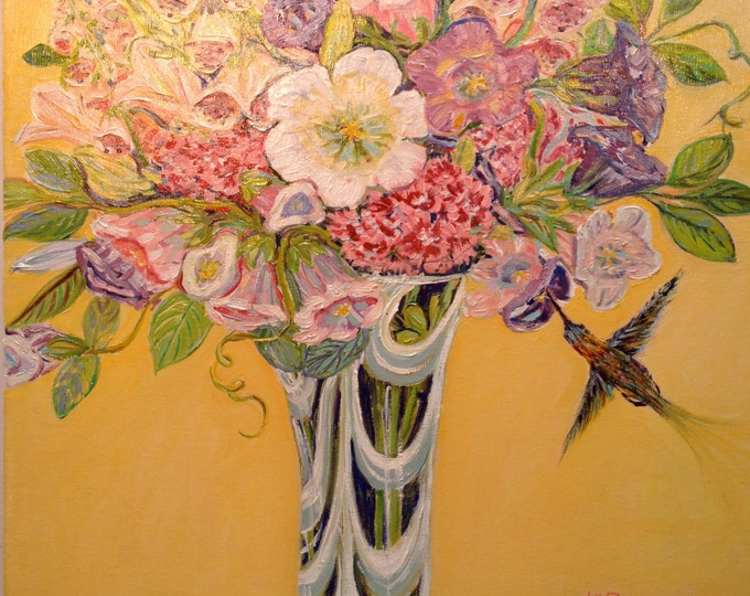 Bouquet with Birds