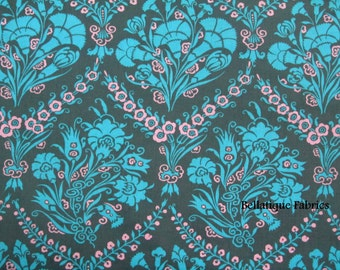 Clearance 1 Yard Amy Butler Josephine's Bouquet From the CAMEO Collection, in Slate