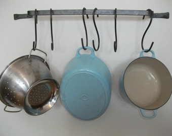 Wall Mounted Pot rack, made to measure, hanging pan