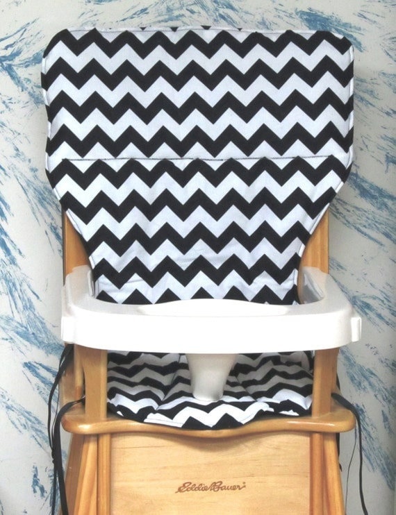 eddie bauer high chair pad replacement cover zigzag black