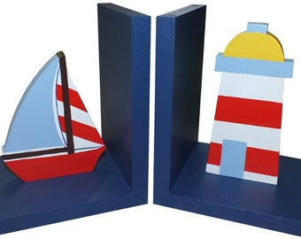 Wooden Nautical Bookends