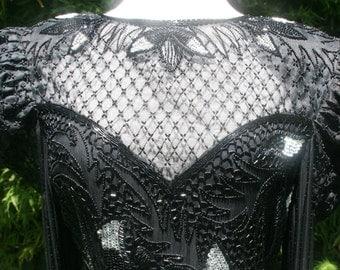 Goth Dream Beaded Black Gown