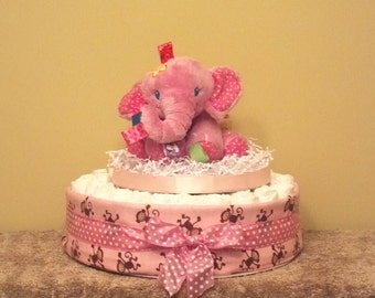 how to make a diaper cake with stuffed animals