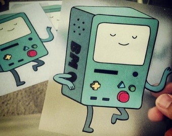 "Adventure Time 5"" Dancing BEEMO BMO System Decal for Cars or Laptops"