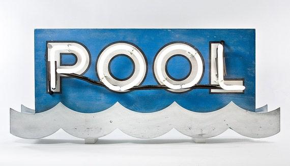 Neon Motel Pool Sign