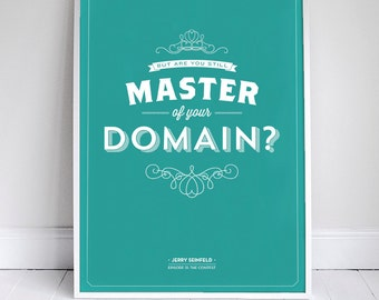 "Master of your Domain 11x17"" - Seinfeld Quote Print - Vintage Retro Typography"