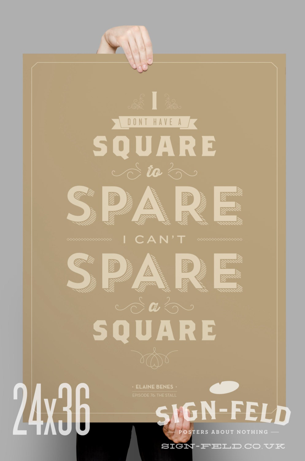Spare A Square Poster Seinfeld Quote Print Vintage By Signfeld