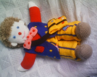 "knitting pattern PDF how to make mr tumble something special measures 17"" tall  no 36."