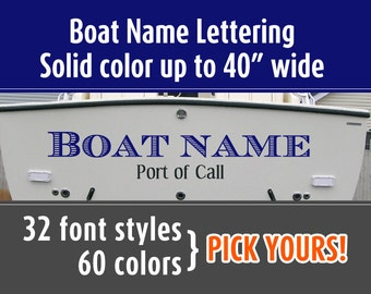 Popular items for boat letters on etsy for Boat lettering styles